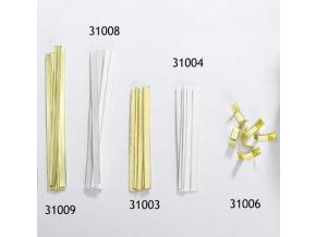 Uzavírací sponky bílé - 15cm