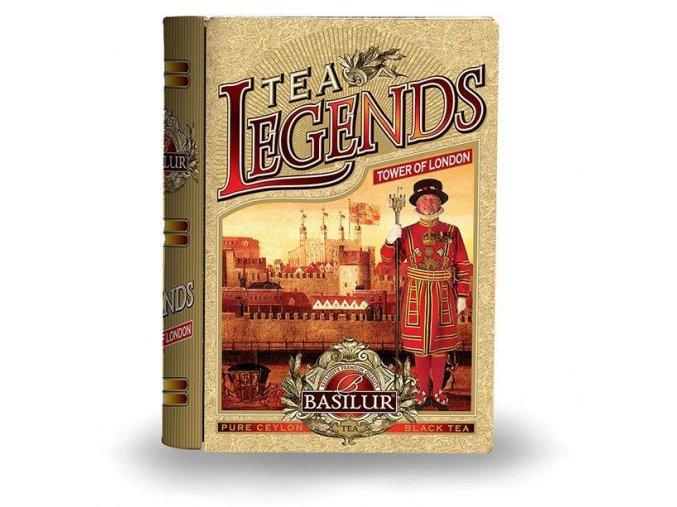 Čistý černý čaj Basilur v dárkovém balení knihy, sypaný. 100g. Tea book - Tower of London