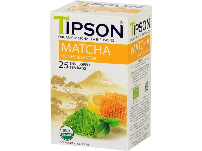 Tipson Matcha tea honey nad lemon
