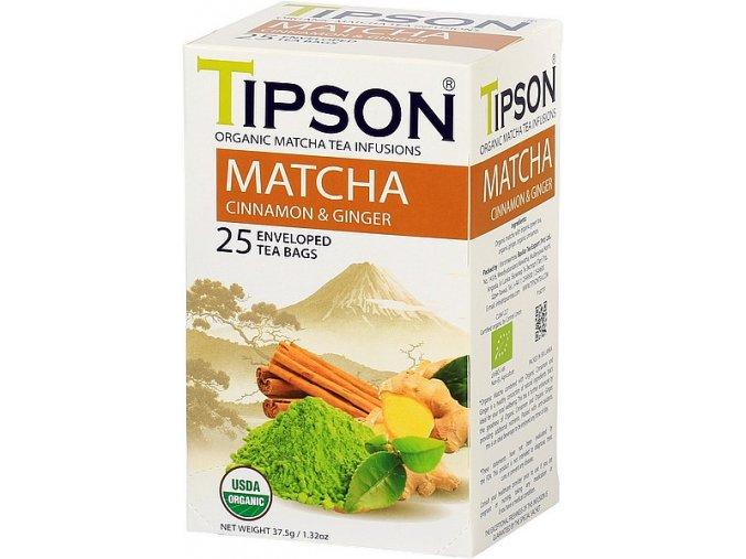 Tipson Matcha tea cinnamon and ginger