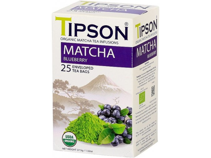 Tipson Matcha tea blueberry