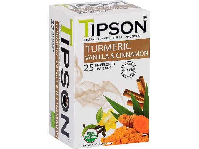 Tipson BIO turmeric, vanilla, cinnamon