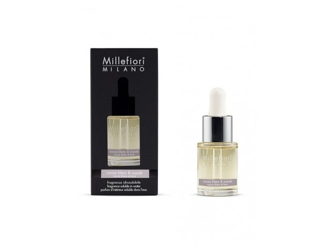 MILLEFIORI Natural Aroma olej 15ml Cocoa Blanc & Woods
