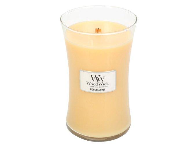 Svíčka Woodwick váza, zimolez a jasmín - 609g. Honeysuckle
