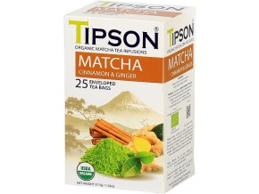 Tipson Matcha tea cinnamon and ginger