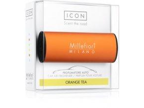 MILLEFIORI Icon Classic vůně do auta pomerančový čaj, oranžový dekor. Orange tea. Orange design