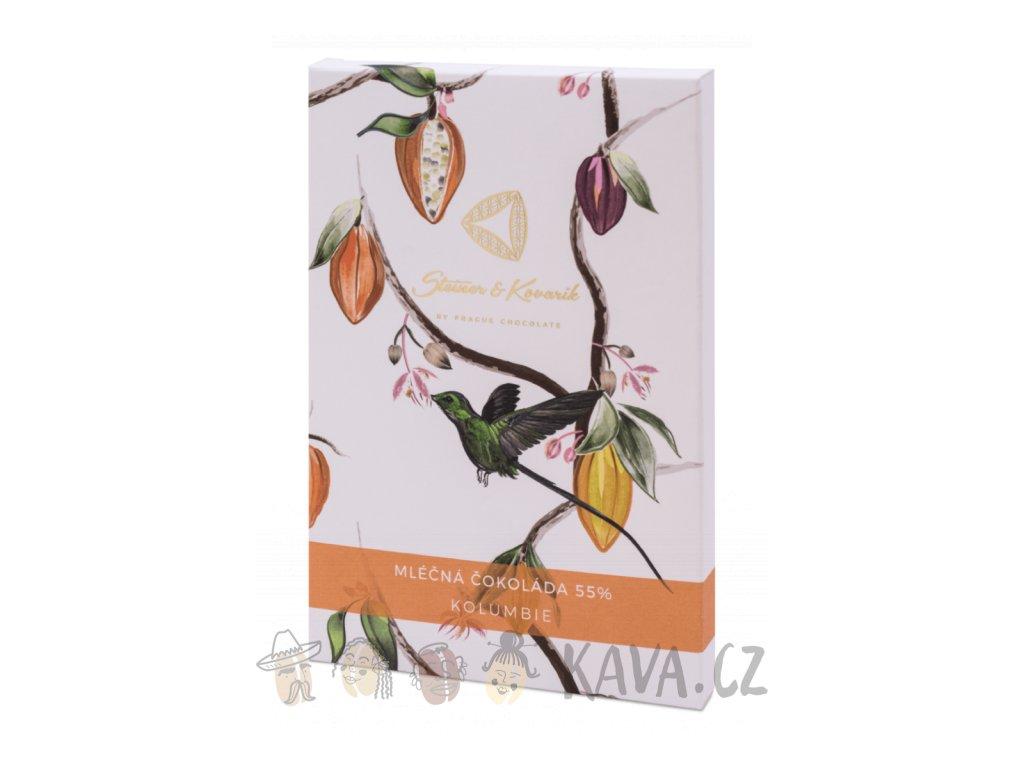 Pražská čokoláda Aluna mléčná čokoláda 44%