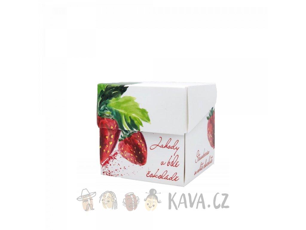 Pražská čokoláda Lyofilizované jahody v bílé čokoládě