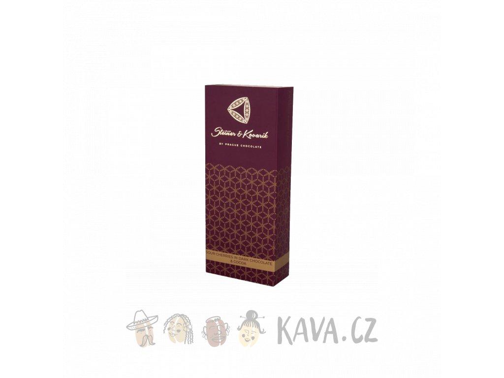 Pražská čokoláda Kandované višně v hořké čokoládě