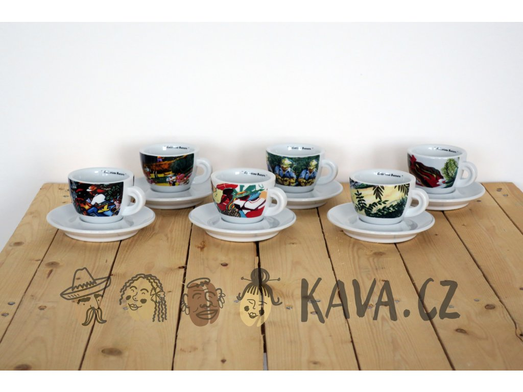 bazzara cappucino cup set