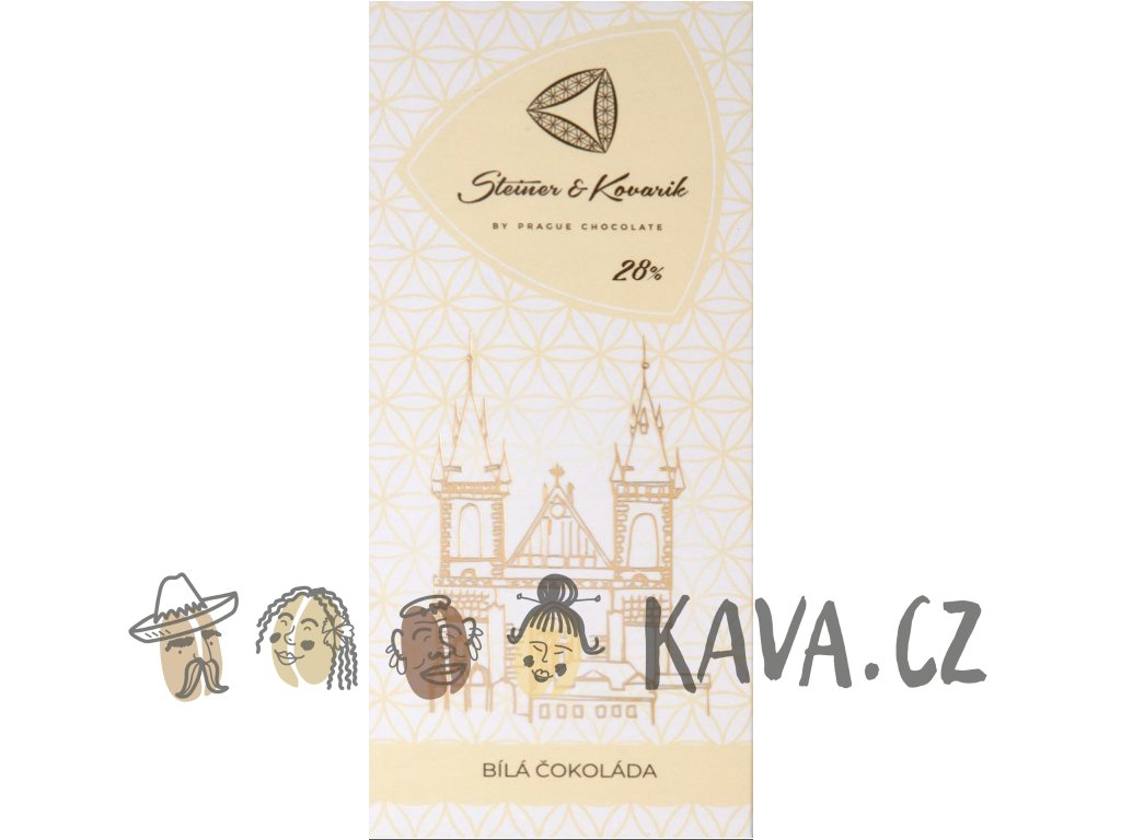 Pražská čokoláda Bílá čokoláda
