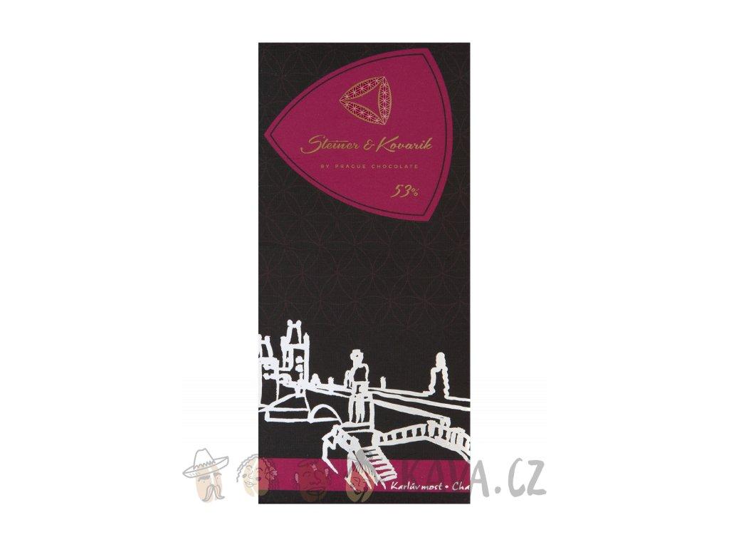 Pražská čokoláda Hořká čokoláda s kanadskými brusnicemi