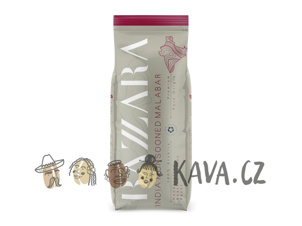 Káva Bazzara India Monsooned Malamar 1 kg