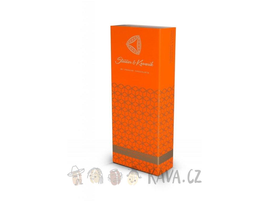Pražská čokoláda Kandovaný pomeranč v hořké čokoládě