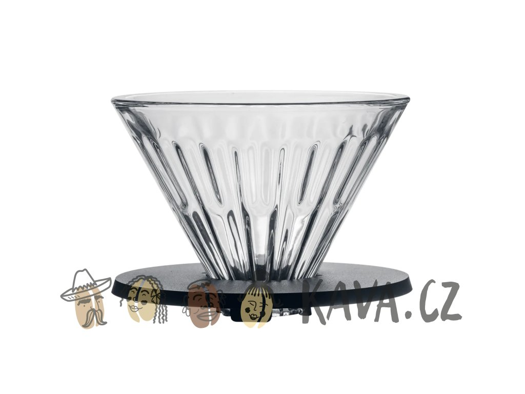 timemore crystal eye skleneny dripper cerny 1