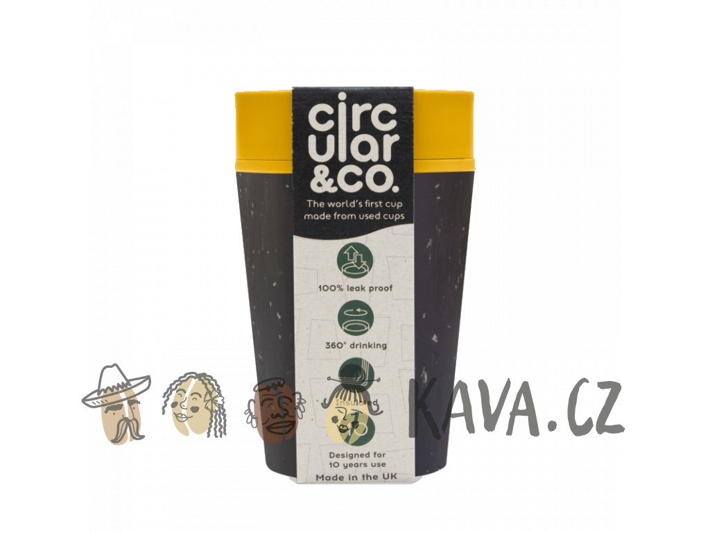 circular cup rcup black and mustard 227 ml zelenadomacnost
