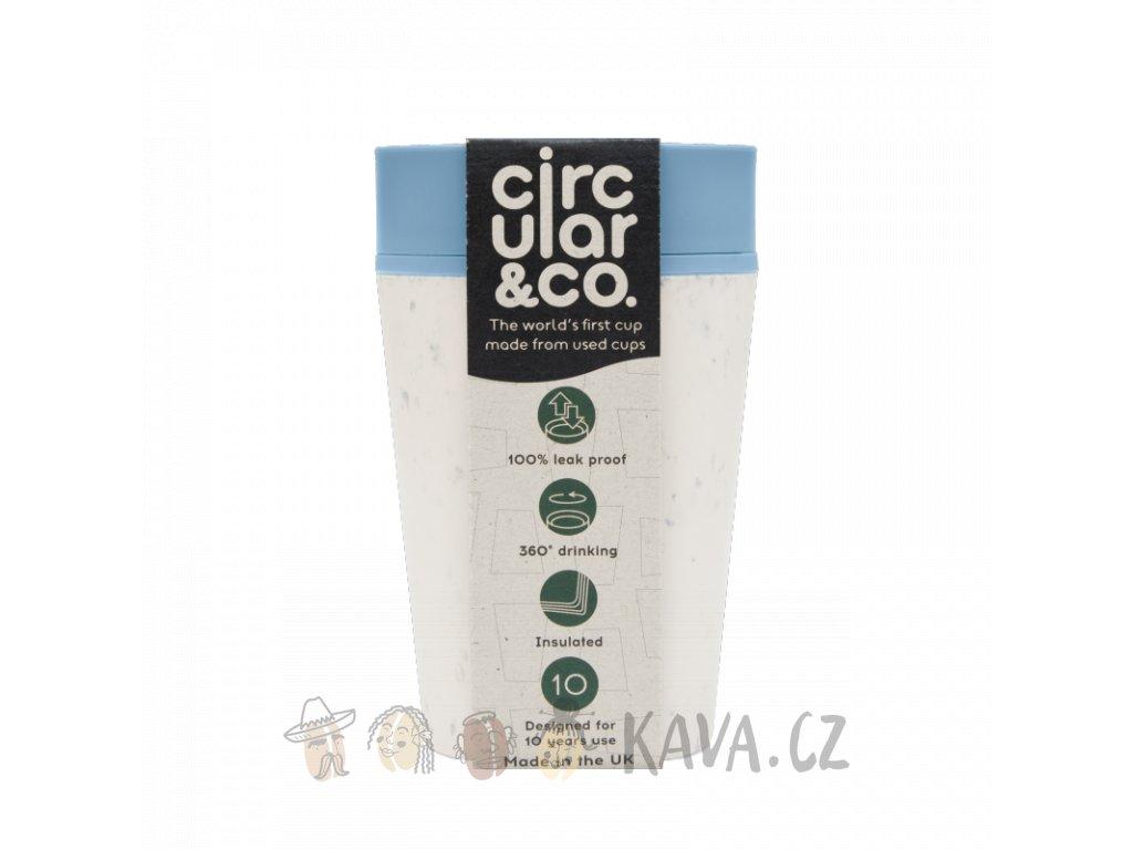 circular cup rcup cream and blue 227 ml zelenadomacnost