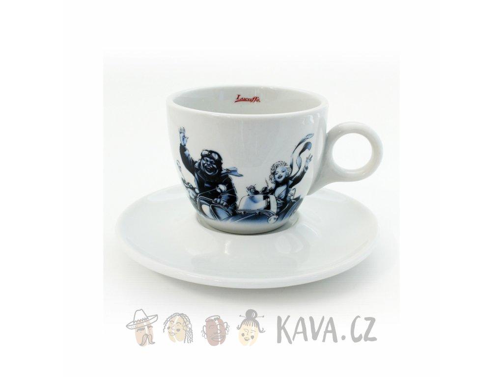 Šálek Lucaffé Blucaffé cappuccino