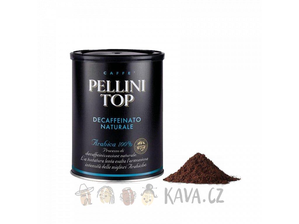 Mletá káva Pellini Top Decaffeinato