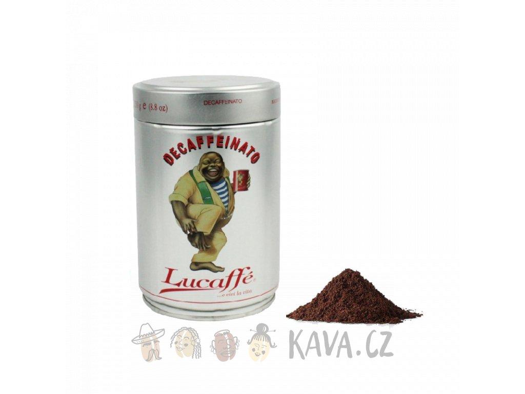 Lucaffé Decaffeinato mletá káva 250 g