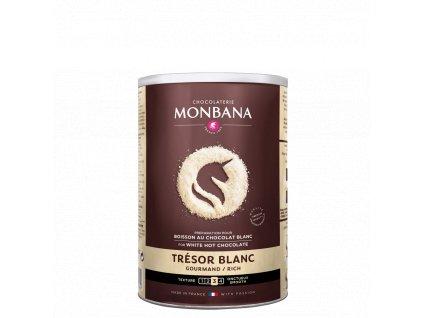 Monbana Horká čokoláda Trésor bílá 500 g