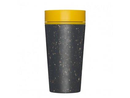 rCUP Kelímek na kávu Black and Mustard 340 ml