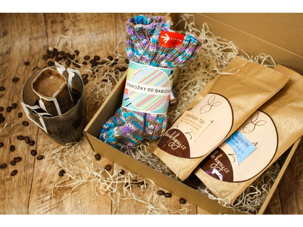 Dárkové balení s ponožkami - pro klienty/obchodní partnery