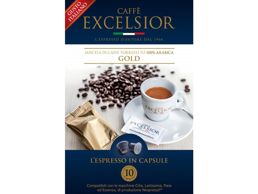 Kapsle Excelsior GOLD kompatibilní s Nespresso systémem - balení 20ks