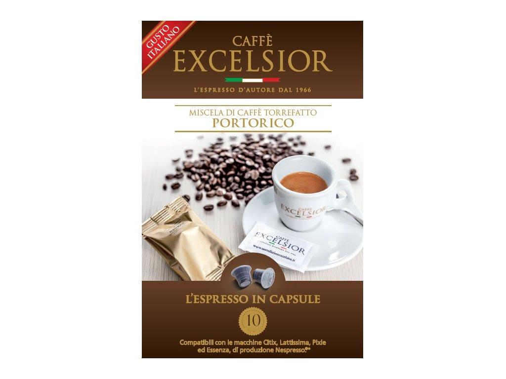 Kapsle Excelsior PORTORICO kompatibilní s Nespresso systémem - balení 20ks