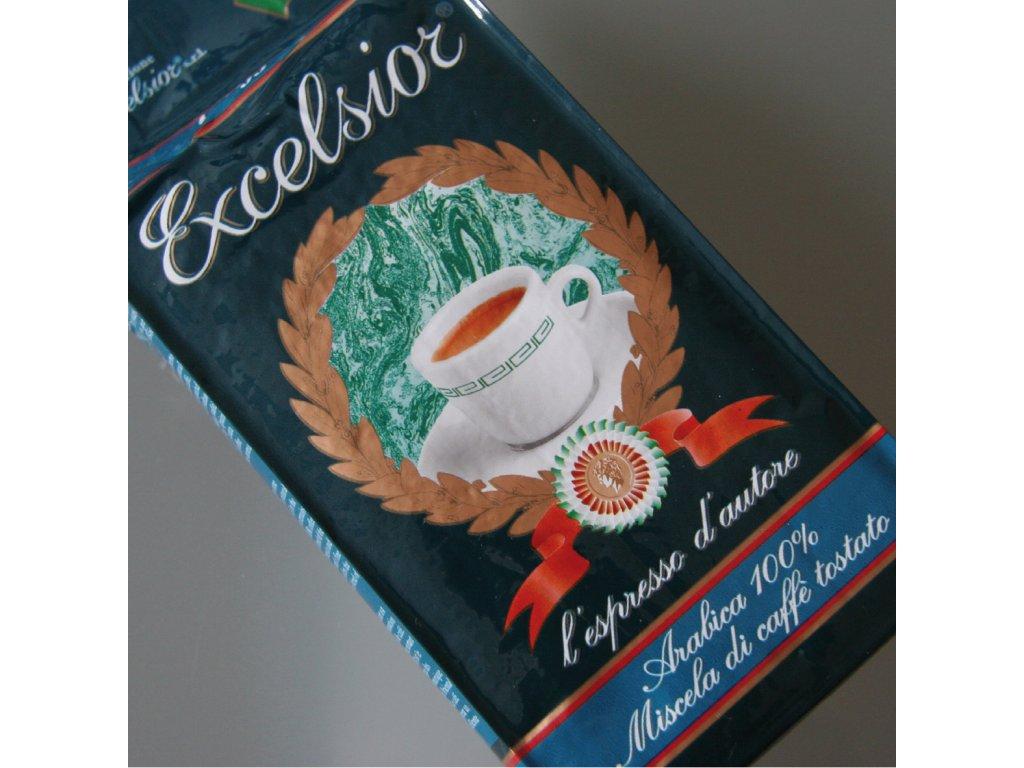 Káva Excelsior Bollo-blu mocca - mletá na překapávanou kávu  250g