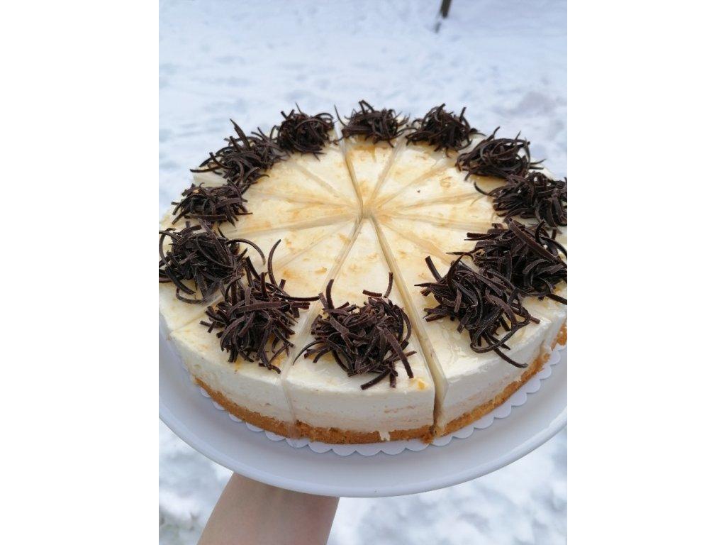 Meruňkovo - tvarohový dort