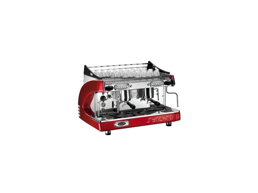 Ryoal Synchro profesionální kávovar - dvou pákový červený