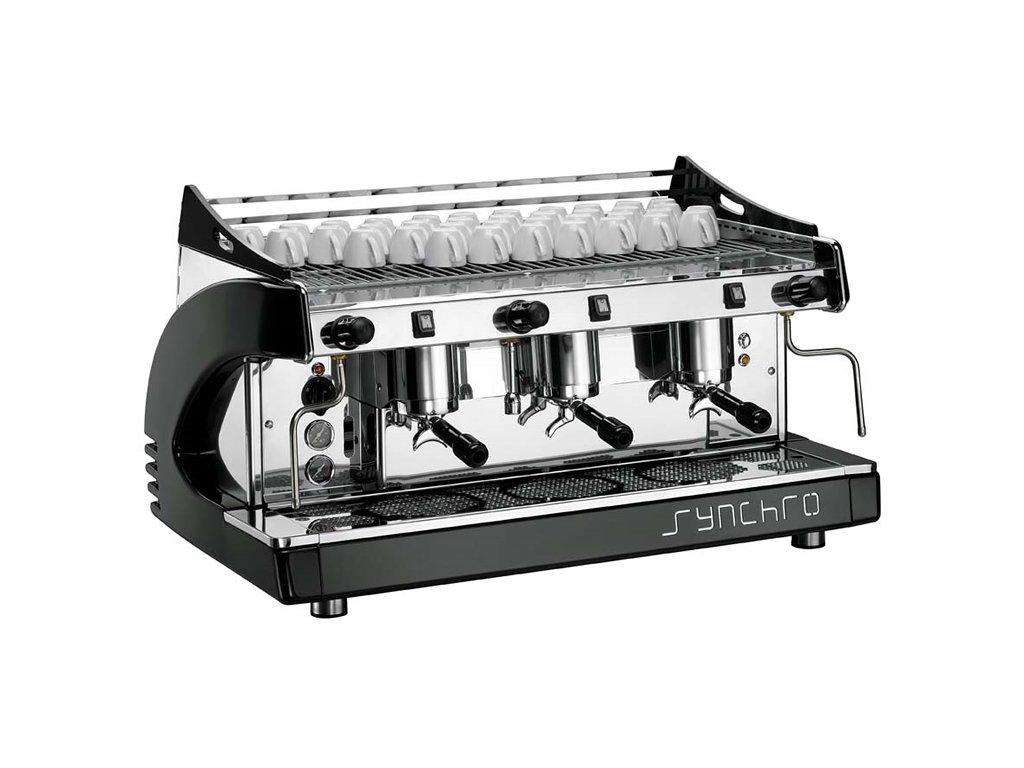 Ryoal Synchro profesionální kávovar - tří pákový černý