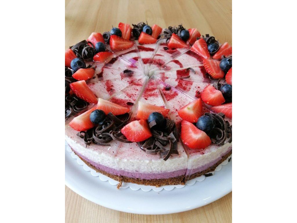 Borůvkovo-smetanový dort