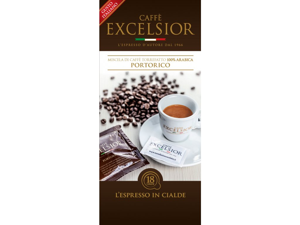 Coffee pods,  pody - káva Excelsior PORTORICO Coffee 18ks