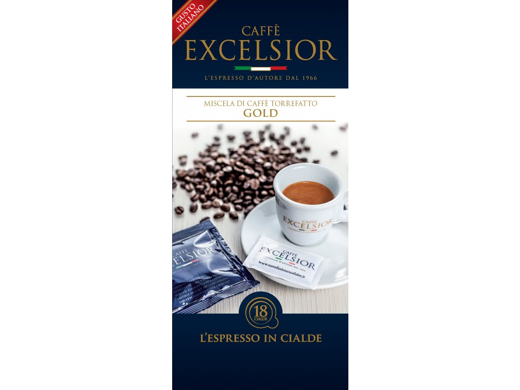 Coffee pods, pody - káva Excelsior GOLD Coffee 18ks