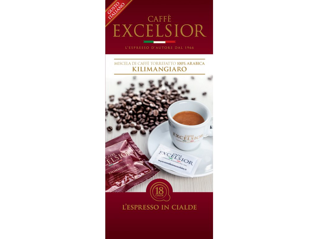 Coffee pods, pody - káva Excelsior KILIMANGIARO Coffee 18ks
