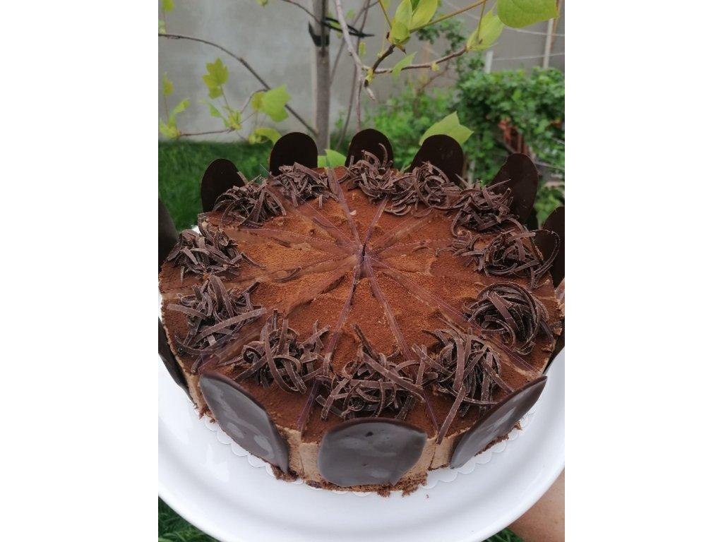 Čokoládový dort s karamelizovanými jablky