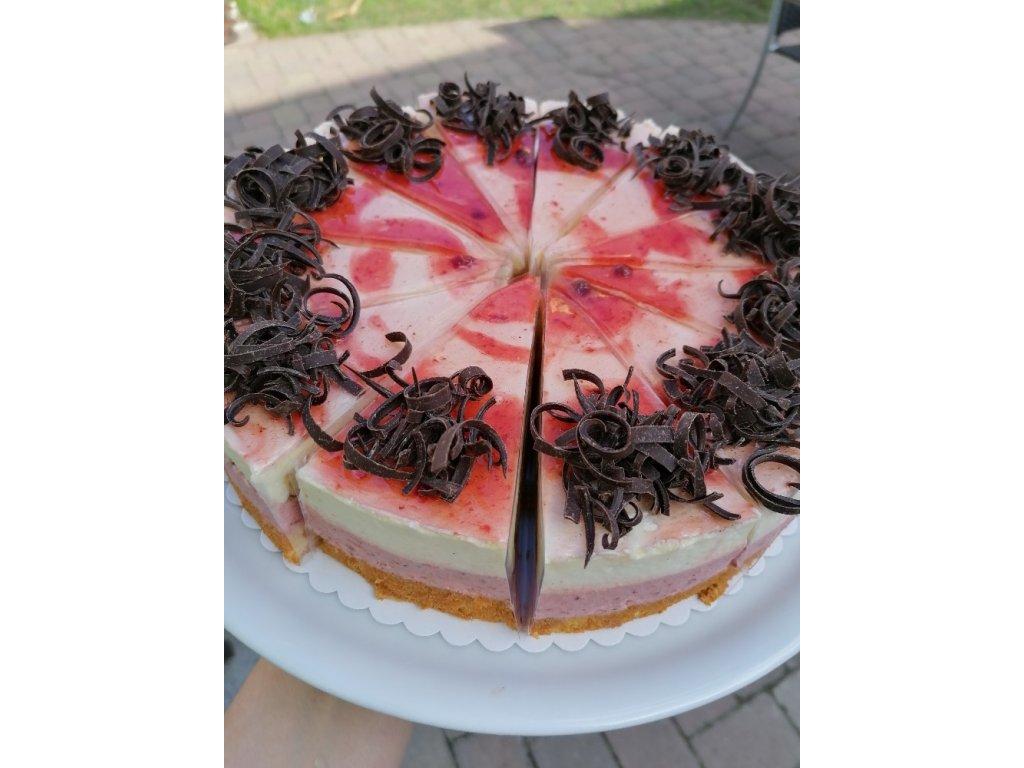 Jahodovo - vanilkový dort