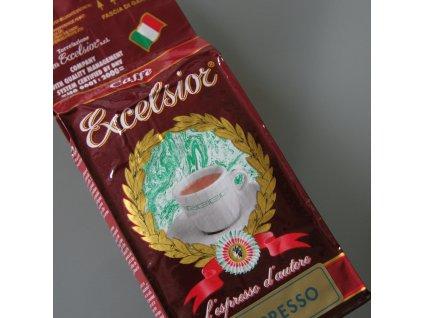 Káva Excelsior Bollo-blu espresso - mletá na přípravu espressa  250g