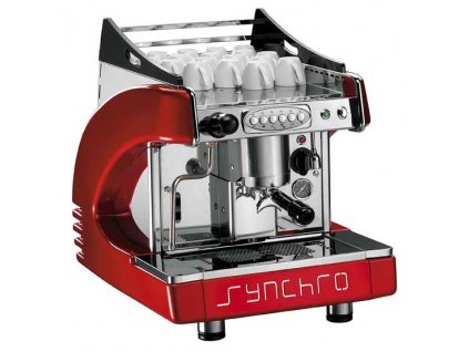 Ryoal Synchro profesionální kávovar - jedno pákový červený
