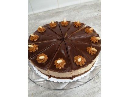 Arašídový dort s karamelem