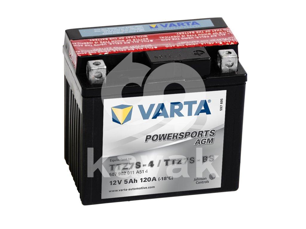Varta AGM 12V 5Ah 120A 507 902 011 TTZ7S-BS