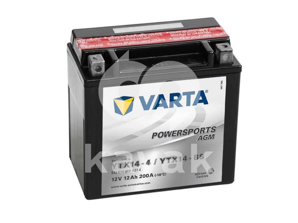 Varta AGM 12V 12Ah 200A 512 014 010 YTX14-BS
