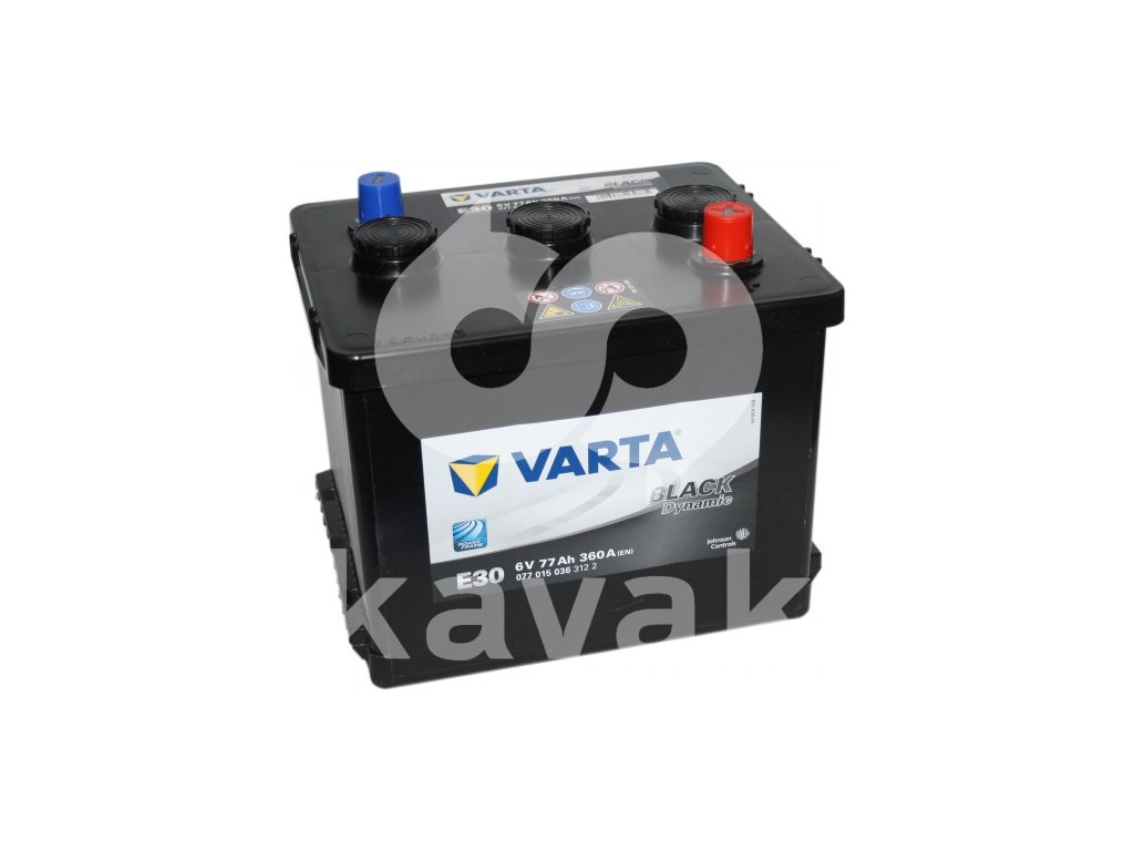 Varta Black Dynamic 6V 77Ah 360A 077 015 036