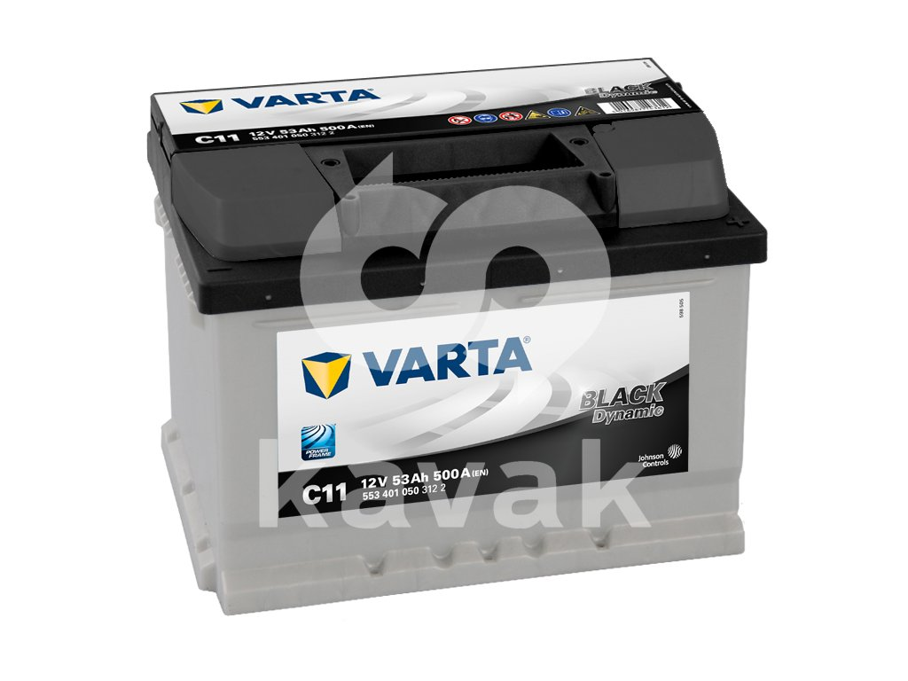 Varta Black Dynamic 12V 53Ah 500A 553 401 050