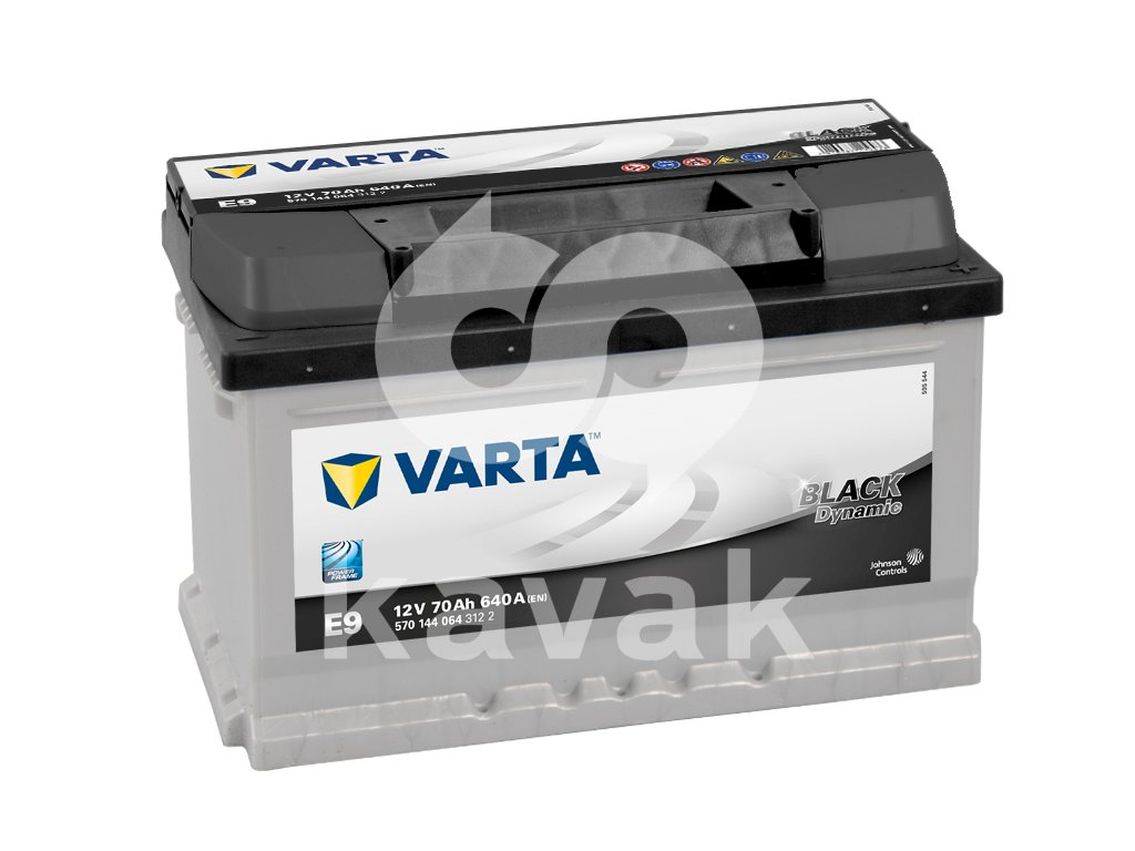 Varta Black Dynamic 12V 70Ah 640A 570 144 064