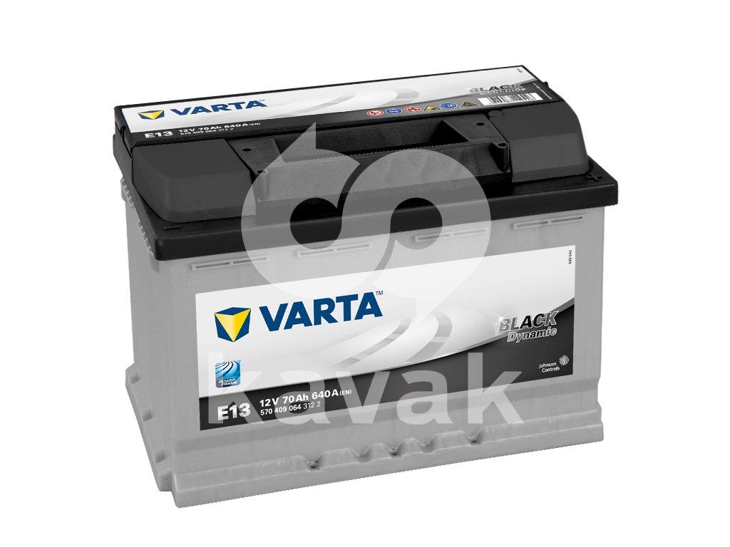 Varta Black Dynamic 12V 70Ah 640A 570 409 064