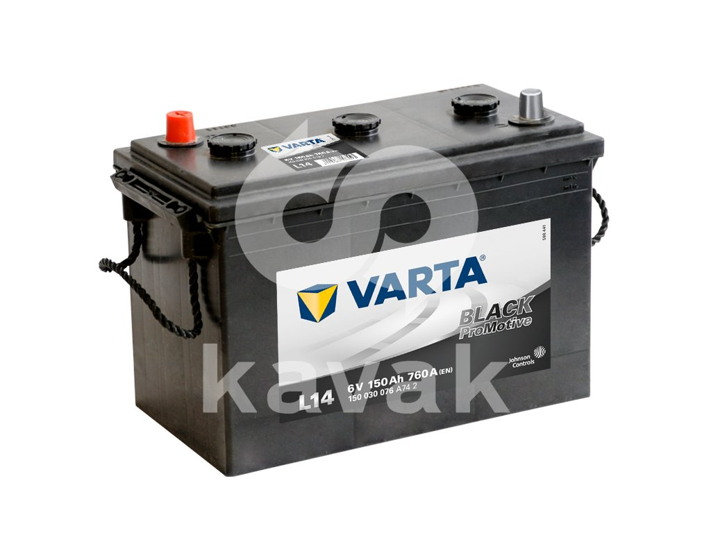 Varta Promotive Black 6V 150Ah 760A 150 030 076