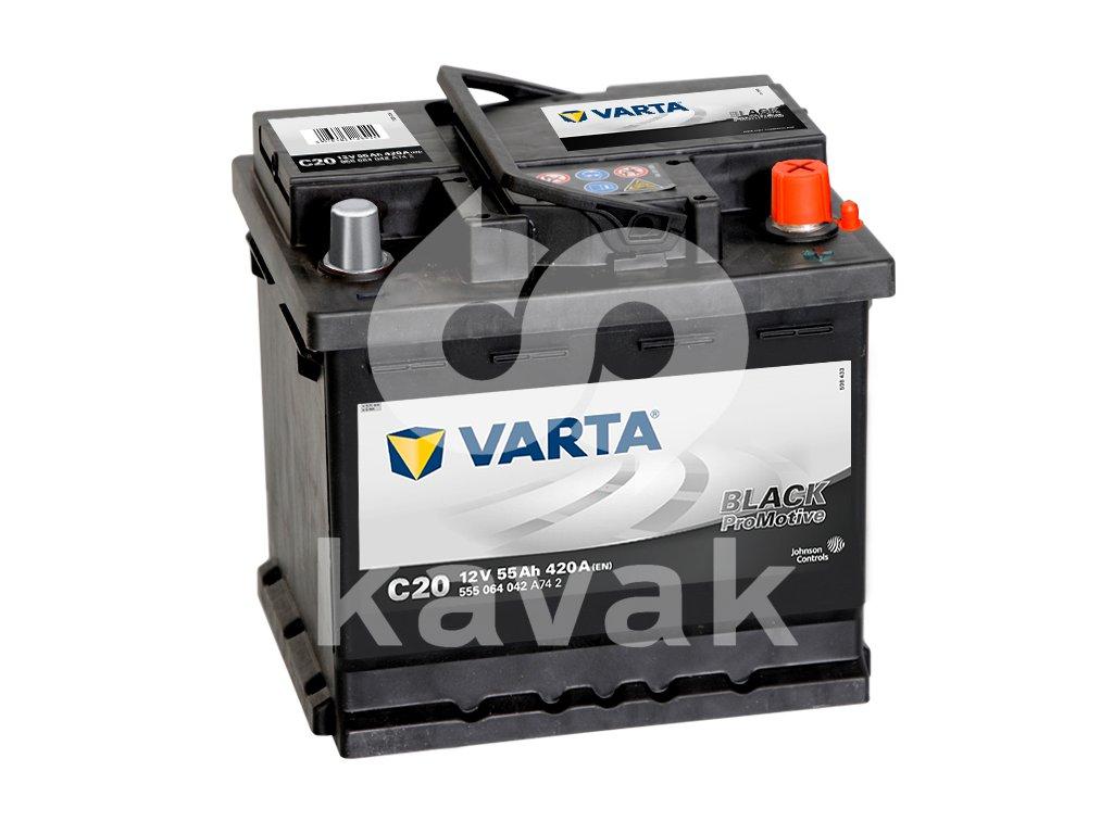 Varta Promotive Black 12V 55Ah 420A 555 064 042